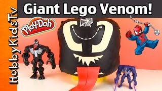 Giant Play-Doh Lego Head VENOM Makeover