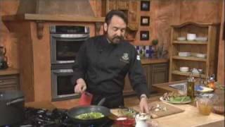 Pasta With Ham, Mushrooms, Apsparagus And Truffle Oil - Chef Nick Stellino
