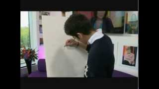Zayn Malik from One direction shows of his drawing