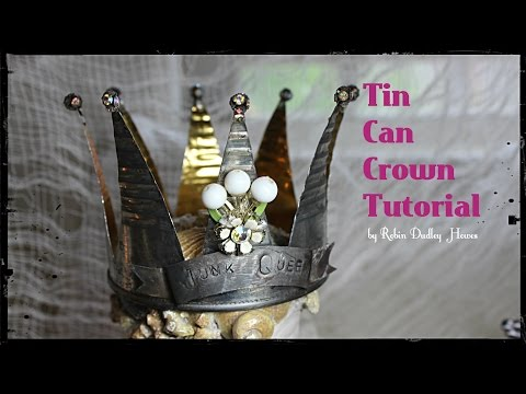 Tin Can Crown Tutorial: DIY crown, wedding, recycled crafts