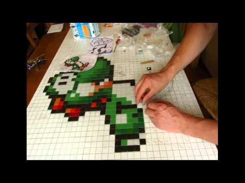 Pixel Art Yoshi Et Bébé Mario Yoshi Baby Mario