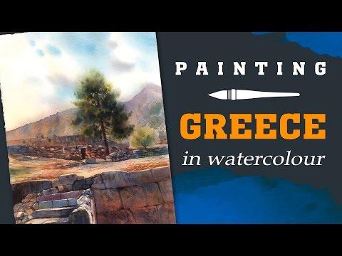 ДЕЛЬФЫ, ГРЕЦИЯ В АКВАРЕЛИ | GREECE IN WATERCOLOUR