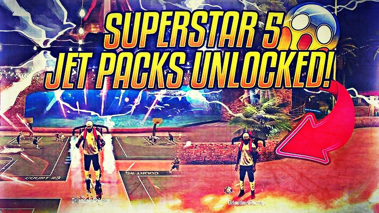 Download NBA 2K17 FIRST SUPERSTAR 5 JET PACK REACTION!! FLYIN' AT THE PARK!!