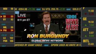 "Anchorman 2 - Ron Burgundy asks for ""More Graphics"""