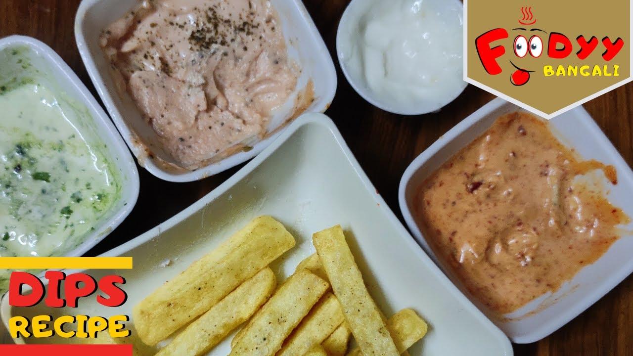 EASY HOMEMADE MAYO DIPS THREE WAYS | Kamalika's kitchen | Foodyy Bangali