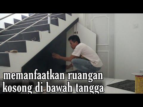 memanfaatkan ruangan kosong di bawah tangga - youtube