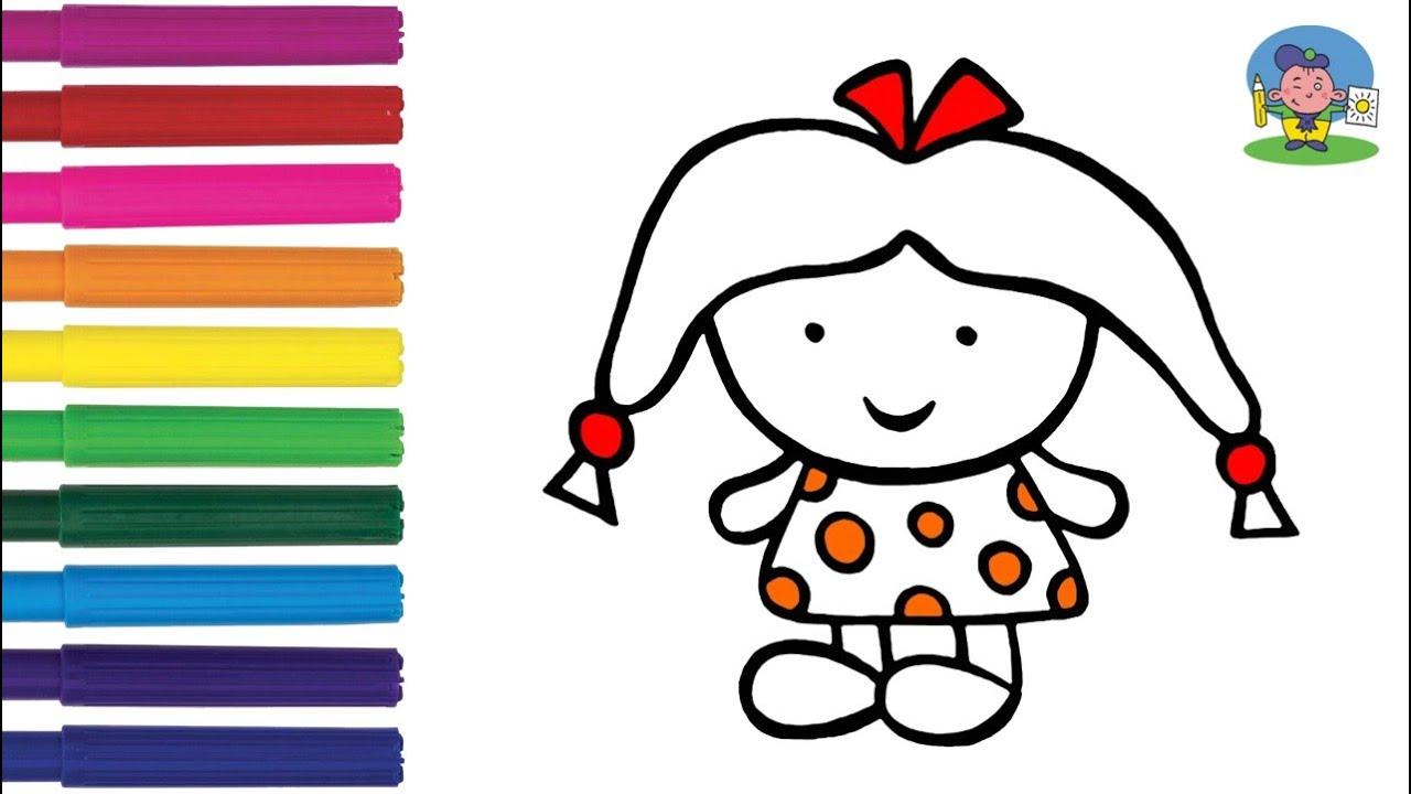 Как нарисовать КУКЛУ / Мультик Раскраска КУКЛА для детей ...