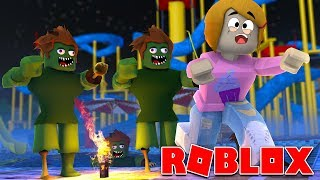 Roblox | Escape The Zombie Waterpark Obby With Molly!