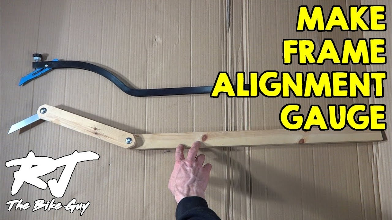 How To Make A Cheap Bike Frame Alignment Gauge Tool Youtube