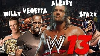 4 YOUTUBERS EN UN RING!! - WWE13 con Vegetta, sTaXx y Willy