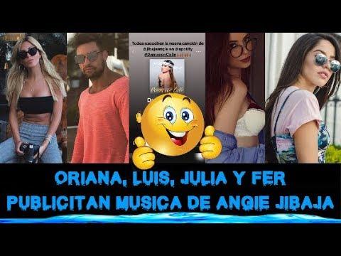 ORIANA, LUIS, JULIA Y FER PUBLICITAN MUSICA DE ANGIE JIBAJA DISPONIBLE EN SPOTIFY