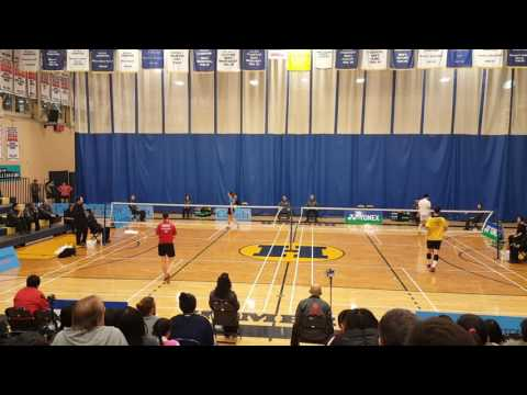 Toronto open 2017 Badminton WS Gold & MS Bronze medal