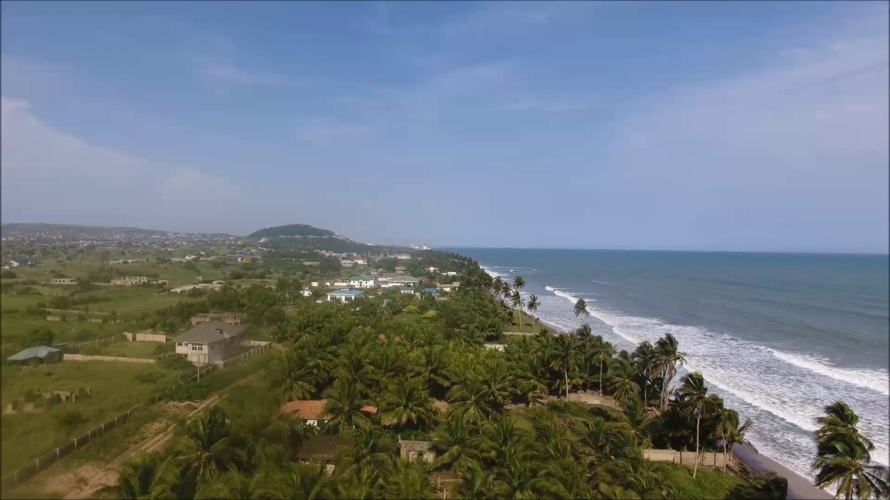 amazing aerial footage kokrobite beach youtube