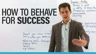 Improve your life & fİnd SUCCESS with social etiquette