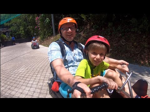 Crazy Fun Rides Family at Skyline LUGE Sentosa