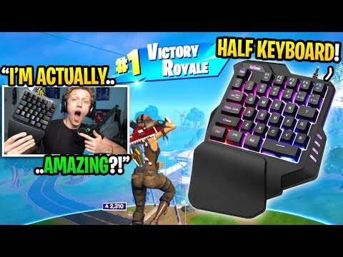 I Bought A HALF Keyboard For Fortnite And It TURNED Me Into THIS... (smallest Keyboard Ever)