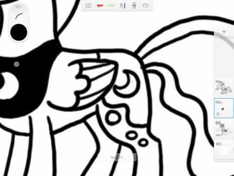 สอนวาด การ์ตูน องค์หญิงลูน่า Princes Luna ด้วย Samsung Galaxy tab a 8 0 with s pen
