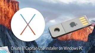 How Create Mac OS X El Capitan 10.11.6 USB Installer For PC/Laptop