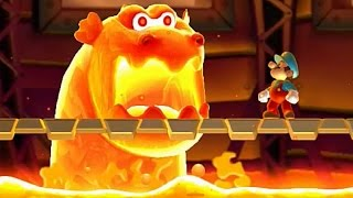 New Super Mario Bros U - All Castle Bosses