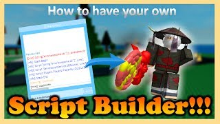 [Currently NOT working] ROBLOX: How to get your OWN Script Builder 2017