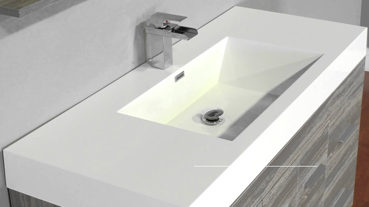 "Youtube Modern Bathroom Vanity alya bath at-8042-g 47"" single modern bathroom vanity 