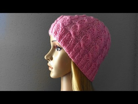 How To Knit A Cable Hat, Lilu's Handmade Corner Video # 15