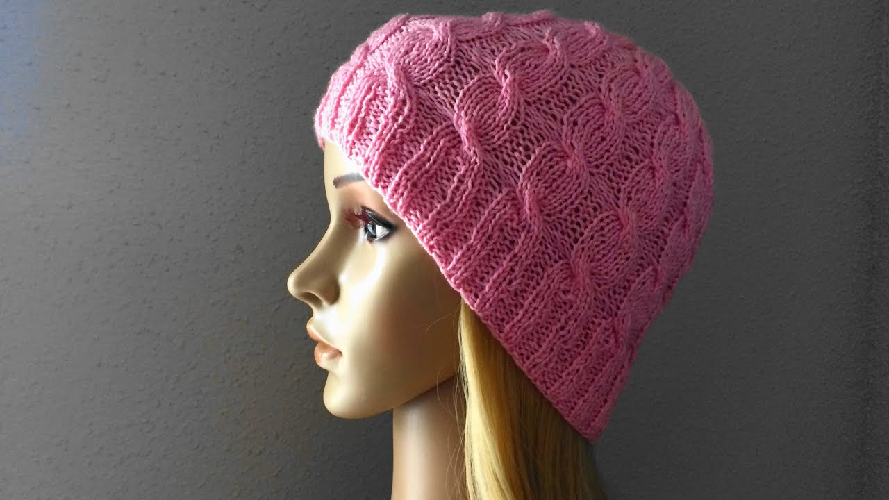How To Knit A Cable Hat, Lilu\'s Handmade Corner Video # 15 - YouTube