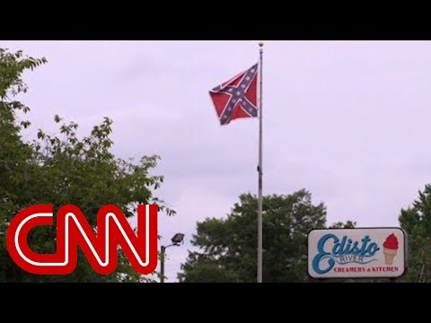 Thumbnail: Shop owner can't remove Confederate flag