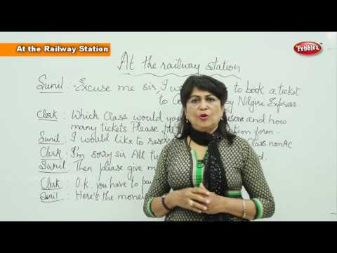 Conversation at the Railway Station || Spoken English Learning Basic For Beginners || Learn English