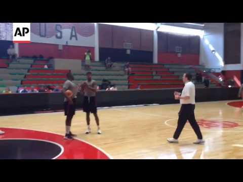 Paul George, Jimmy Butler Toss Football Before U.S. Basketball Practice