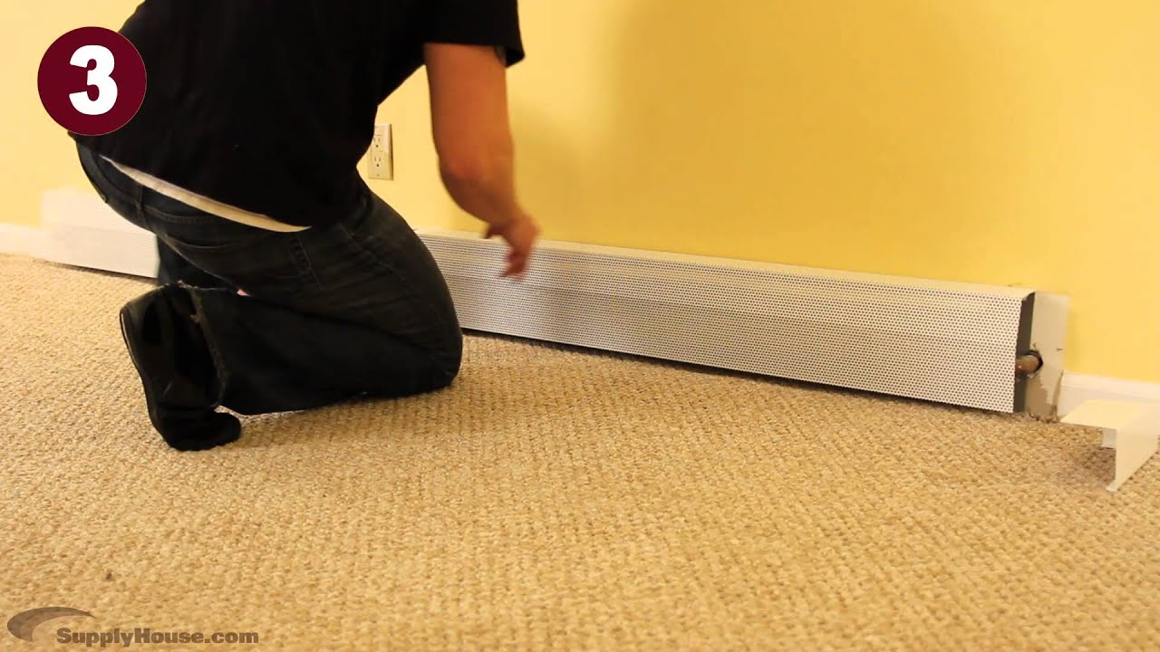 Installing Baseboarders DIY Baseboard Heater Covers - YouTube