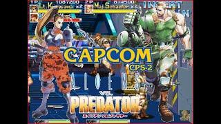 Alien Vs Predator Arcade Lev8 2 Human cooperate no death playthrough