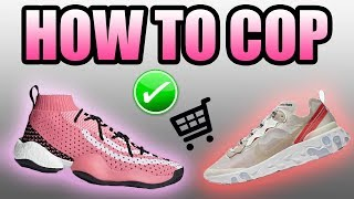 How To Get The Adidas CRAZY BYW PHARRELL AMBITION !   How To Get The NIKE REACT ELEMENT 87 !