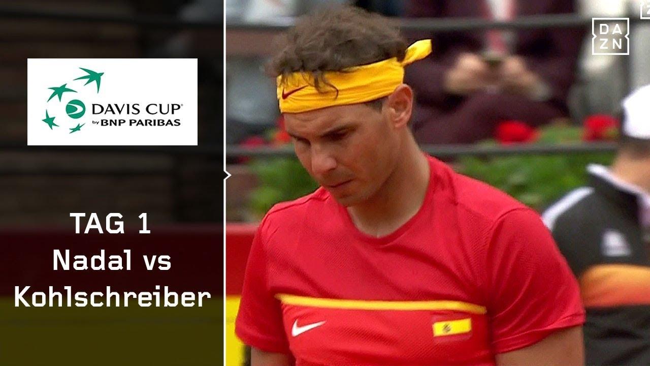 Rafael Nadal Vs Kohlschreiber 62 62 63 Spanien Deutschland