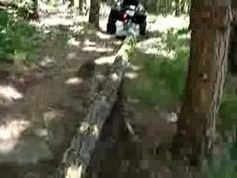Skid Logs With A Log Sled And Your Atv Youtube