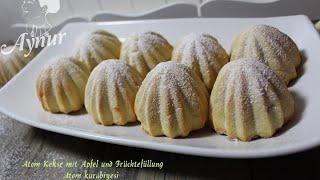 Atom Kekse mit Apfel und Früchtefüllung-Atom kurabiyesi