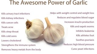 Health benefits of Garlic  Controls BP, Sugar etc