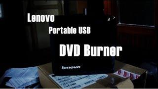 Lenovo USB portable DVD Burner Quick look