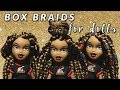 DIY Box Braids for Dolls - How To - Doll Hairstyles | TUTORIAL