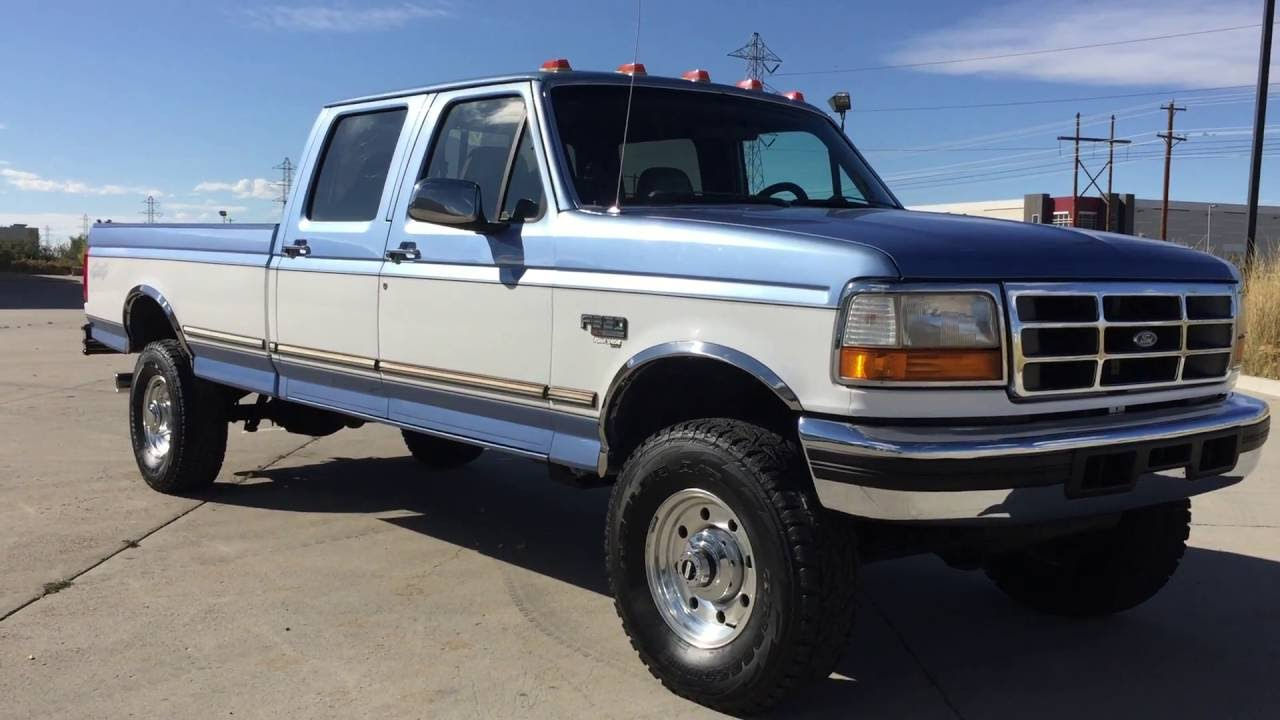 Com 1997 ford f350 crew cab xlt 4x4 7 3 powerstroke turbo diesel for sale youtube
