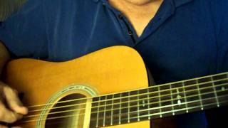 """""""The Tennessee Waltz"""" Bluegrass Song on 6 String Acoustic Guitar"""
