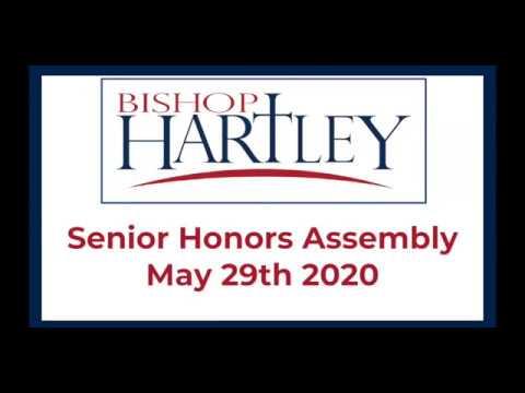 Bishop Hartley High School Senior Honors Assembly 2020