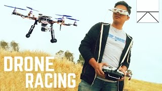 Real Life Video Game Drone Racing (FPV)
