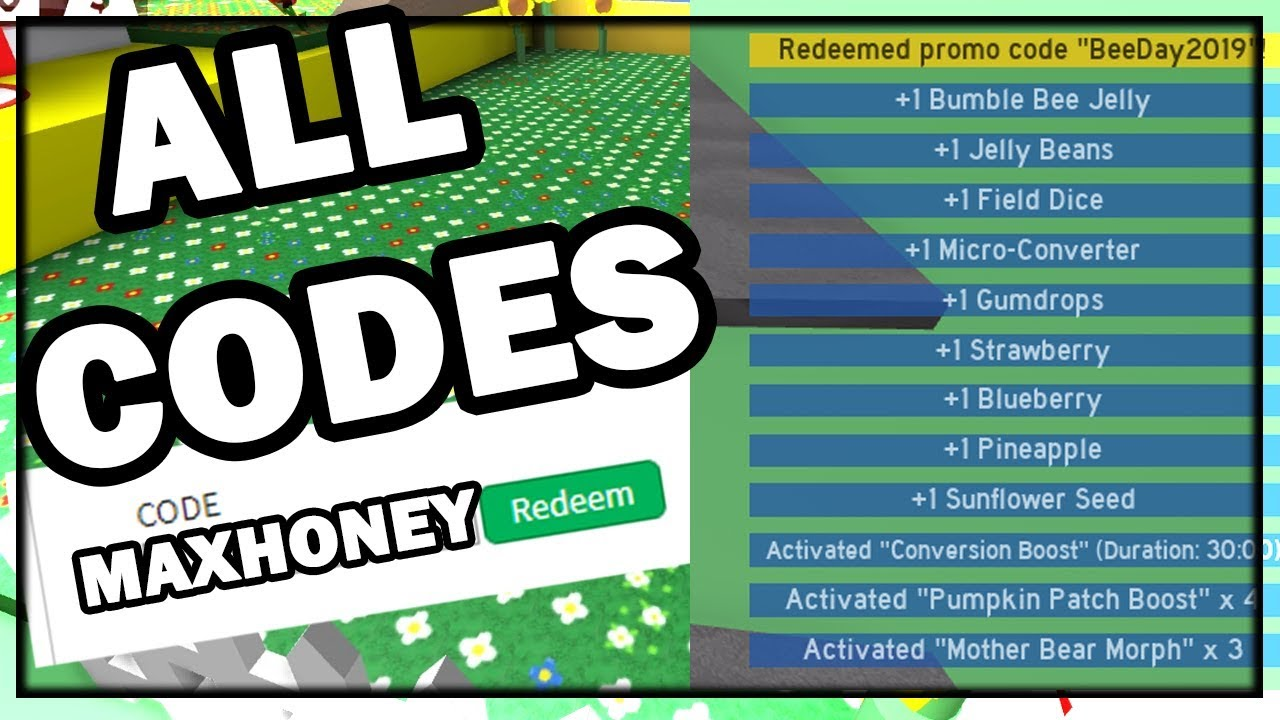 Codes For Roblox 2019 October All Codes For Bee Swarm Simulator October 2019 Youtube