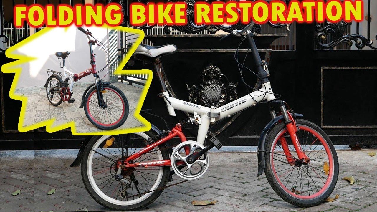 Restorasi Sepeda Lipat Jadul Berkarat Jadi Istimewa Youtube