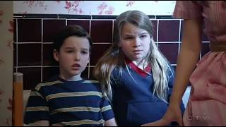 when the storm comes in to Sheldon  Young Sheldon E18