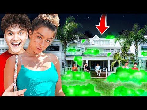 I Turned my Backyard into a Glowing Bubble Bath - FaZe House