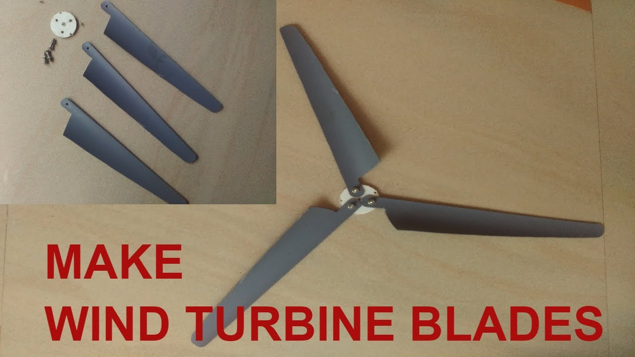 Make Mini Wind Turbine Propeller Blades DIY Tutorial