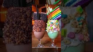 Бургеры и картошка МакДоналдс VS Шоколадный и Радужный коктейли VS Жареный сыр и соус Гуава #shorts