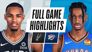 SPURS at THUNDER | FULL GAME HIGHLIGHTS | February 24, 2021